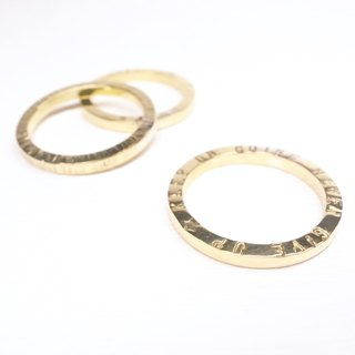Ebony [brass square knock ring] a