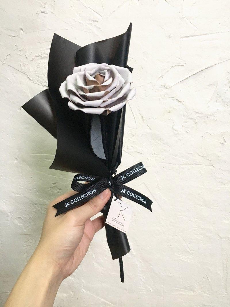 【情人節最冧情人禮物】【情人節禮物】皮革薔薇玫瑰單支花束