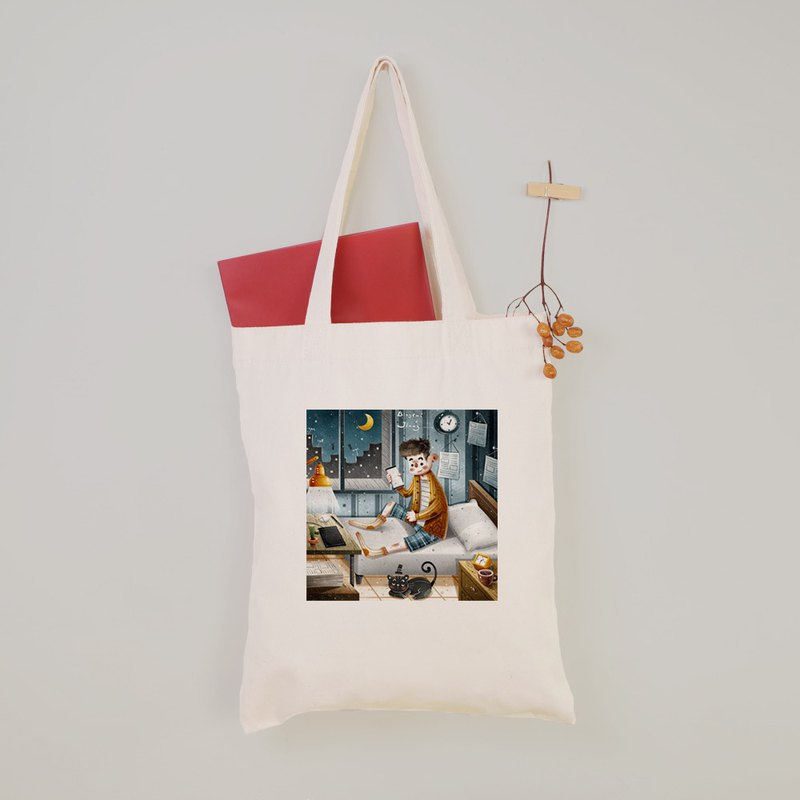 Ginger biscuits - Lower head syndrome flat canvas bag