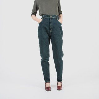 [Egg Plant Vintage] Green Wild Orange Vintage High Waist Jeans