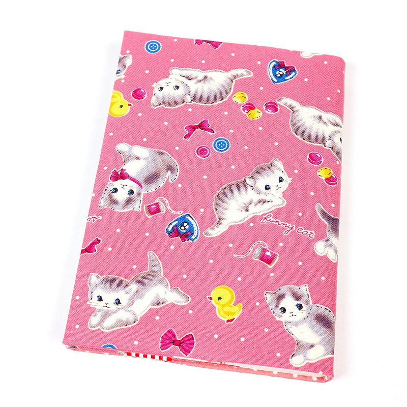 A5 cloth book cover mother book cloth book cover book - kitten (powder)
