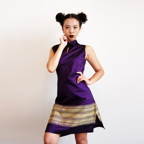 Vintage cheongsam collar dress