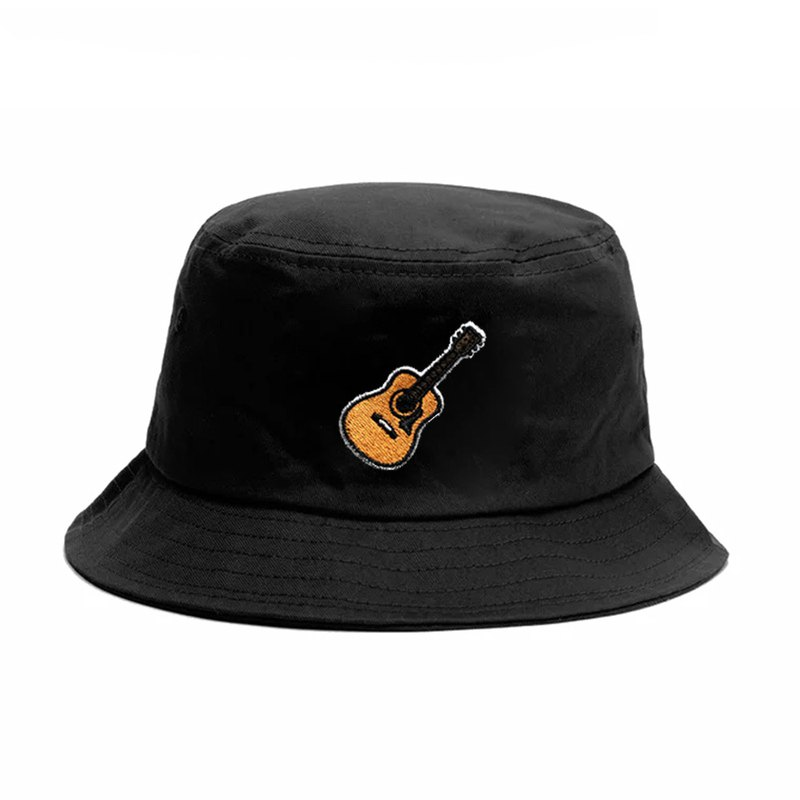 Guitar Player Mini Guitar Original Small Guitar Embroidery Fisherman Hat