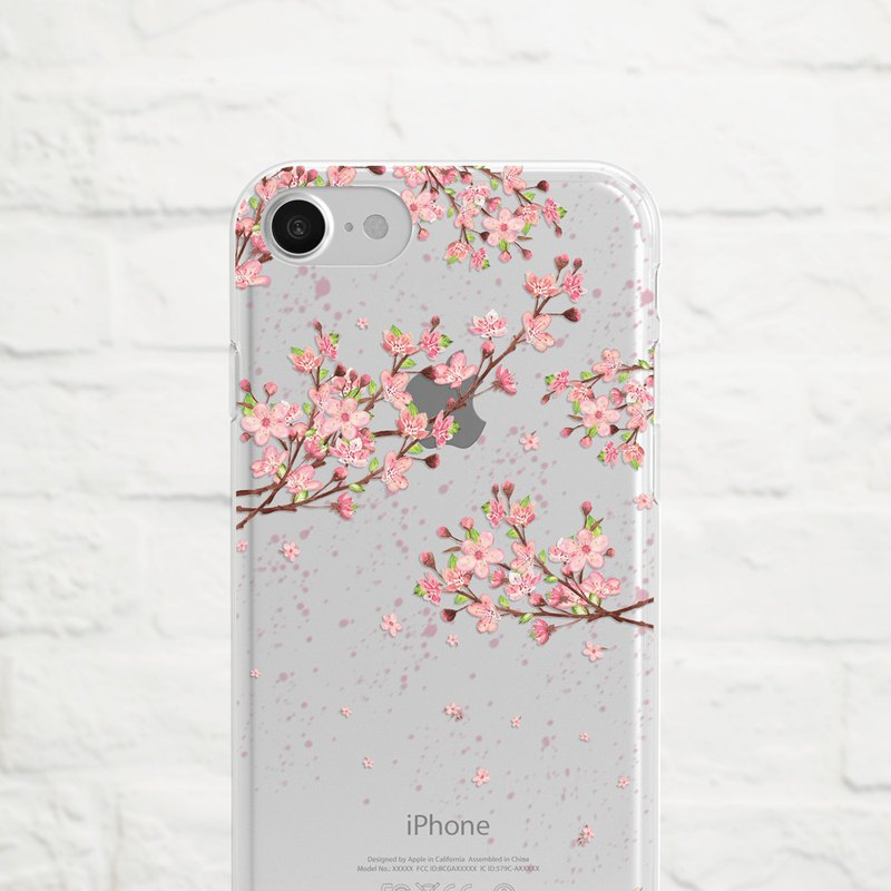 Cherry Blossom, Clear Soft Case, iPhone Xs Max, Xr to iPhone SE/5, Samsung