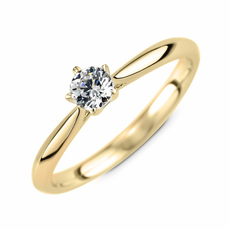 :: Free Lettering :: Promise of Love Diamond Ring-14K Gold / 30 Points