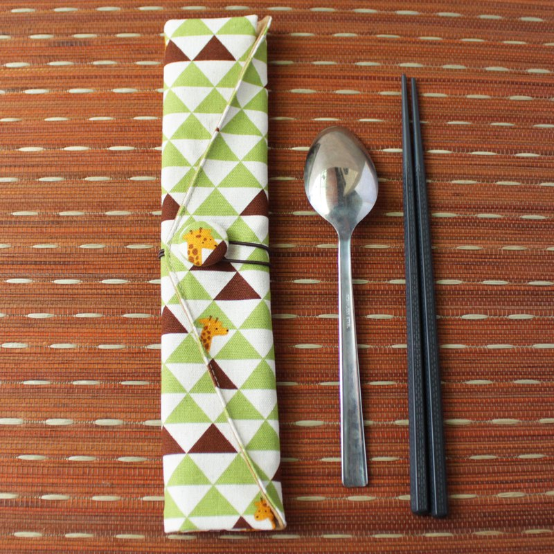 Adoubao-Exclusive Order-Chopsticks Set Package - Green Triangle & Giraffe