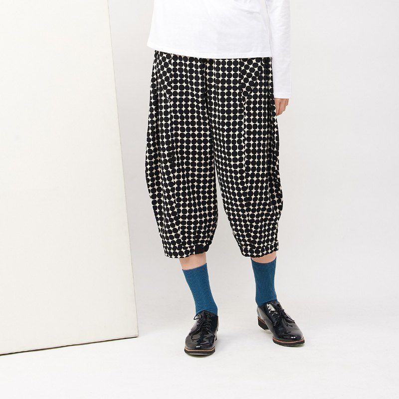 a la sha+a dot loose three-dimensional creative wide pants