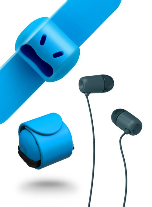 Snappy WOW-Earphone Reel - Clear Blue