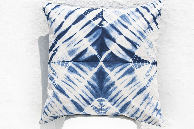 Blue dyed pillow cover / cotton pillow cover / printed pillow cover / indigo blue dyed pillow cover-blue dyed sky
