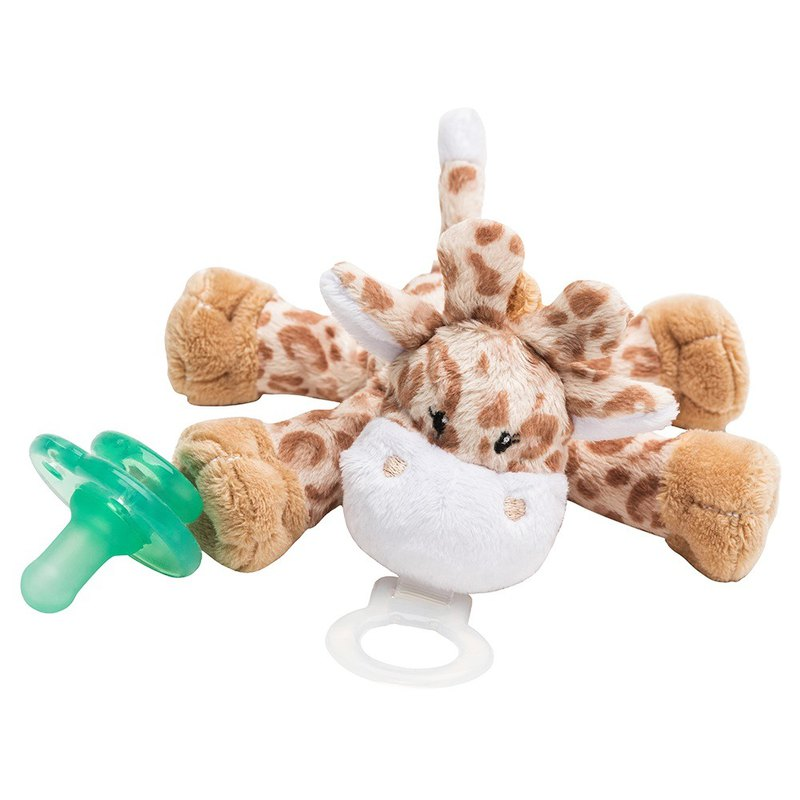 American nookums baby cute styling pacifier / doll - brown giraffe