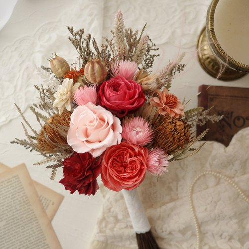 Deep Love bouquet - antique wedding