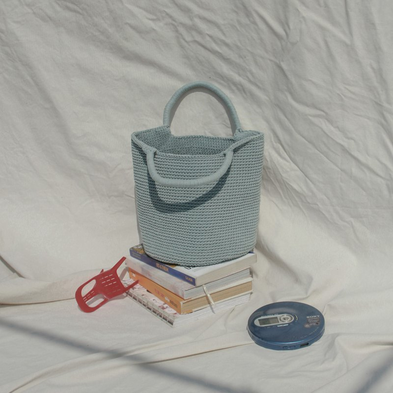 Greyish Blue ,Bucket Handbags, Tank bag, Shopping bag, Bucket bag ,Handbags