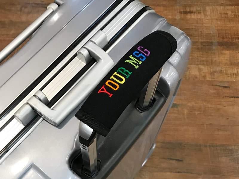 [Customized message] Customized Embroidered Luggage Handle Bag Luggage Tag Luggage Belt - Multi-color selection