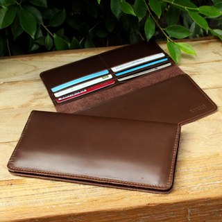 Wallet - My Soft - Brown (Genuine Cow Leather) / Leather Wallet / Long Wallet