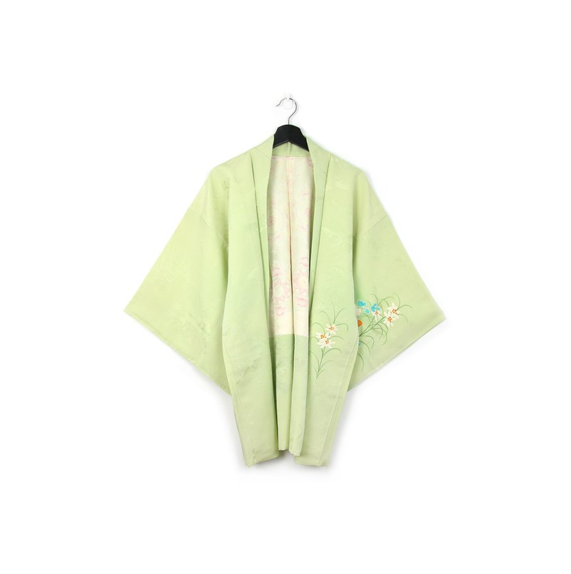 Back to Green-Japan brought back feather weaving grass flower/vintage kimono