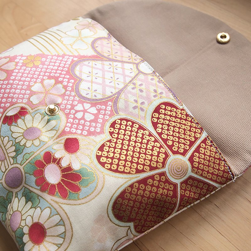 [Japanese flower] kimono series cosmetic bag storage bag storage bag