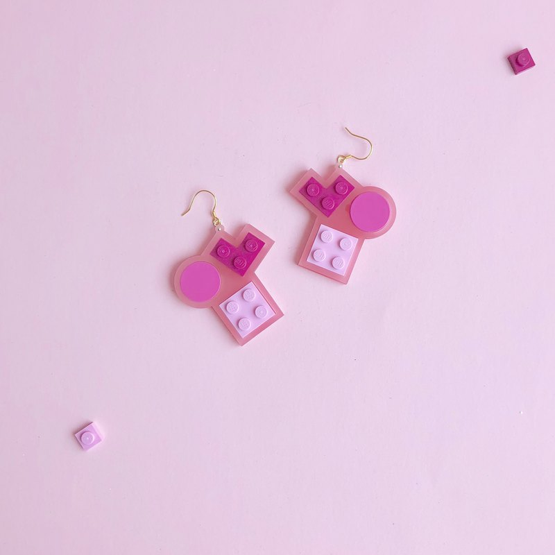 Dating  Pink LEGO Earring