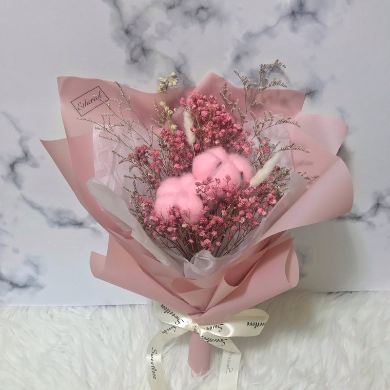 Korean pink girl's medium-sized bouquet