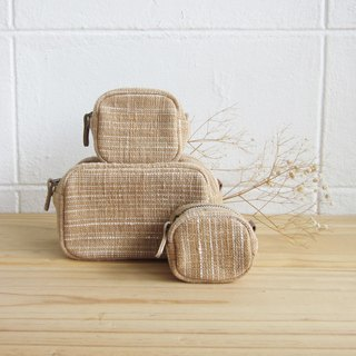 Goody Bag / Three Little tan /SS/S/M Size Tan and Natural Color Cotton