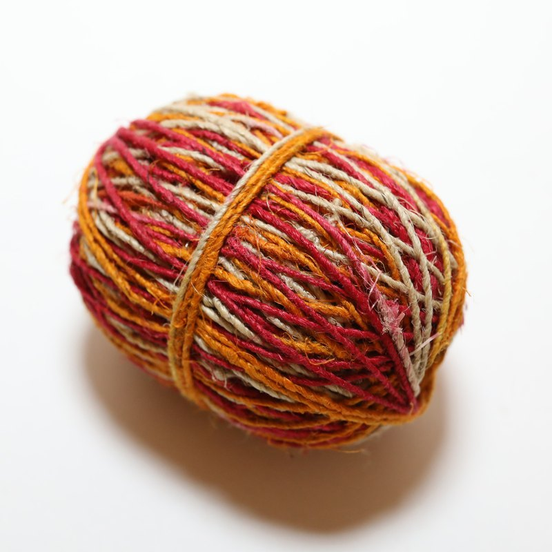 Hemp twine-multi-color-red yellow natural-fair trade