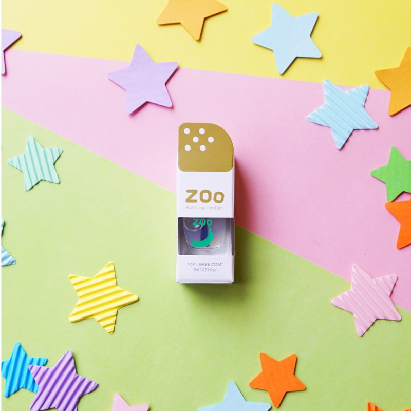 ZOO ㄖ ㄨ ˋChildren's Disposable Nail Polish # 01 Green Green Banana Oil (Armor Oil) Non-toxic and tearable