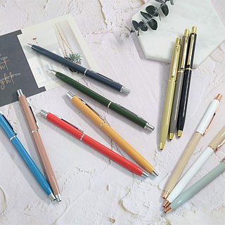 [IWI]daily writing US and Japan metal 0.5mm black oily ball pen - gold accessories 6 into