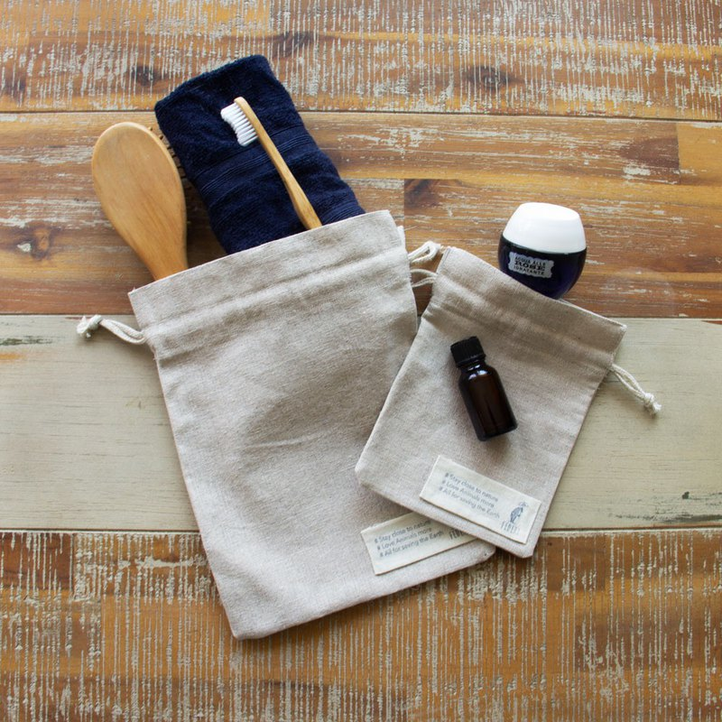 Eco friendly Linen cotton pouch set.