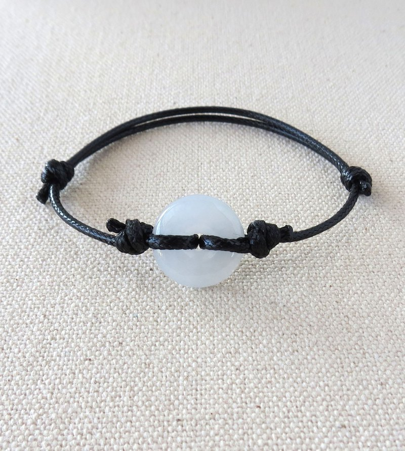 This year [Peaceful ‧ Ruyi] Nuo Bing Pin Clasp Jade Korean Wax Bracelet*07*Evil protection, body protection