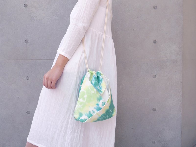 Tie dye/handmade/Kimono bag/hand bag/shoulder bag :Herb tea: