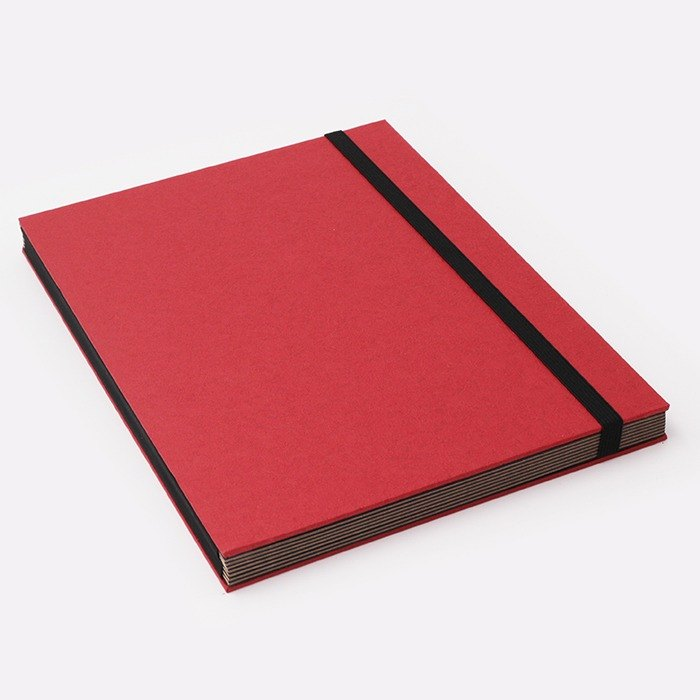 Three summer light years classic solid color strap books section DIY album creative gifts large rectangle (red)