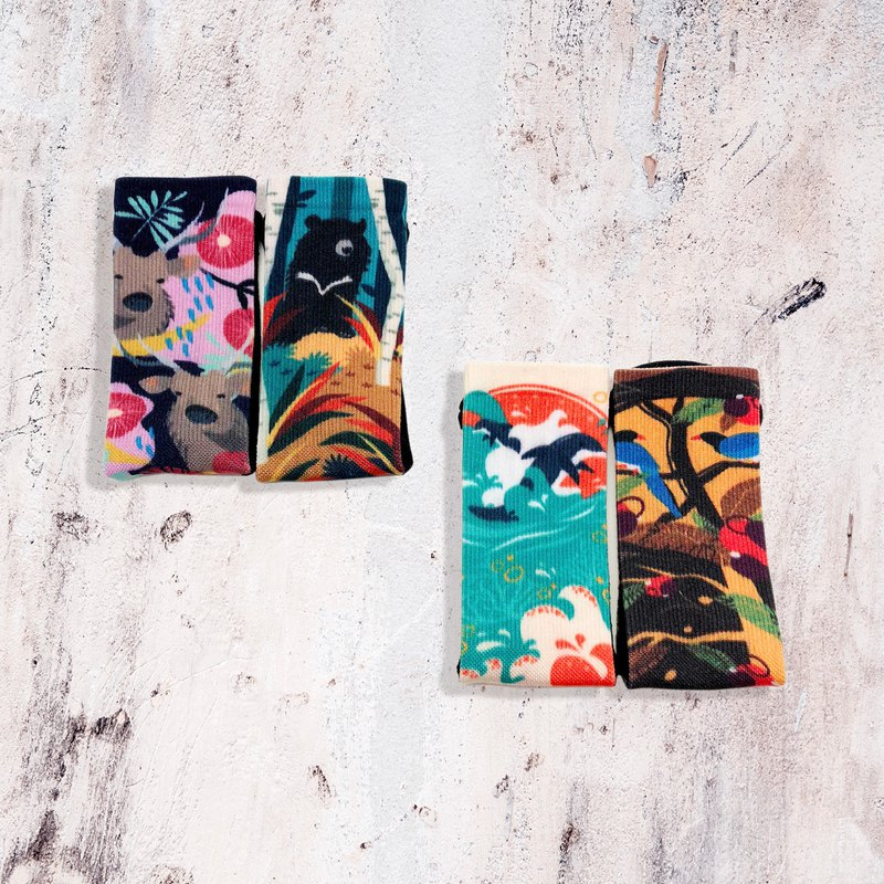 【 Treasure Island Coffee - Taiwan Special Animal Socks】Environmental Coffee Sand/Sports Socks