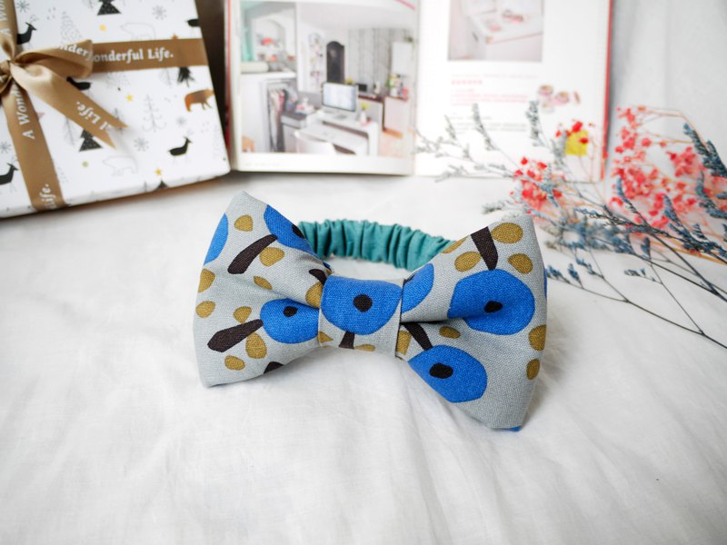 Baby hair band baby hair band │ stereo bow::: apple tree (blue)