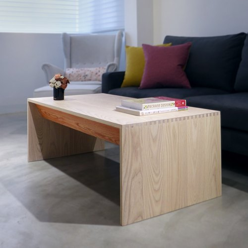 Playing color beveled coffee table
