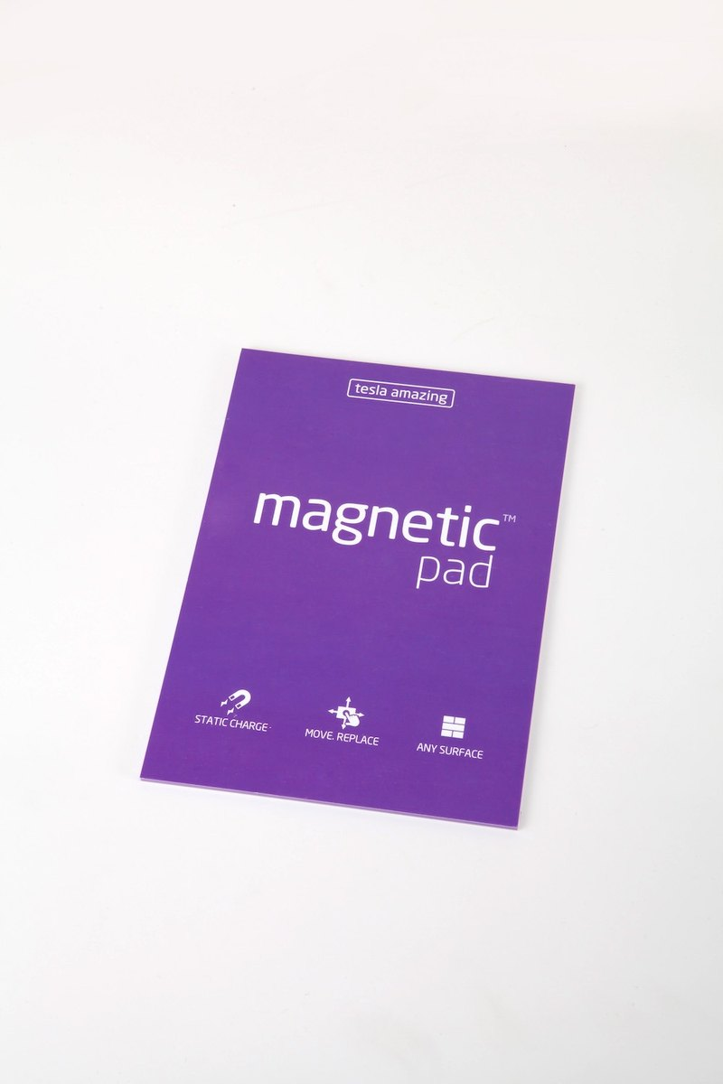 /Tesla Amazing/ Magnetic Notes A5-size purple