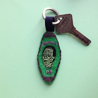 FRANKENSTEIN / Handmade Embroidery Key Chain