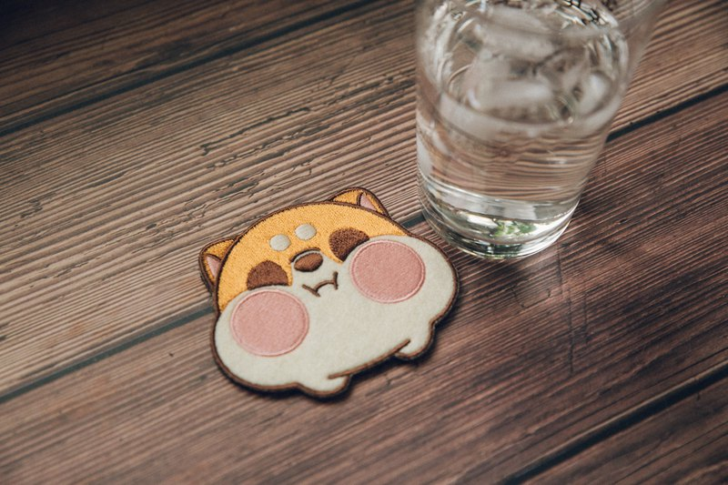 Buy three get one free millet Shiba Inu embroidered coaster