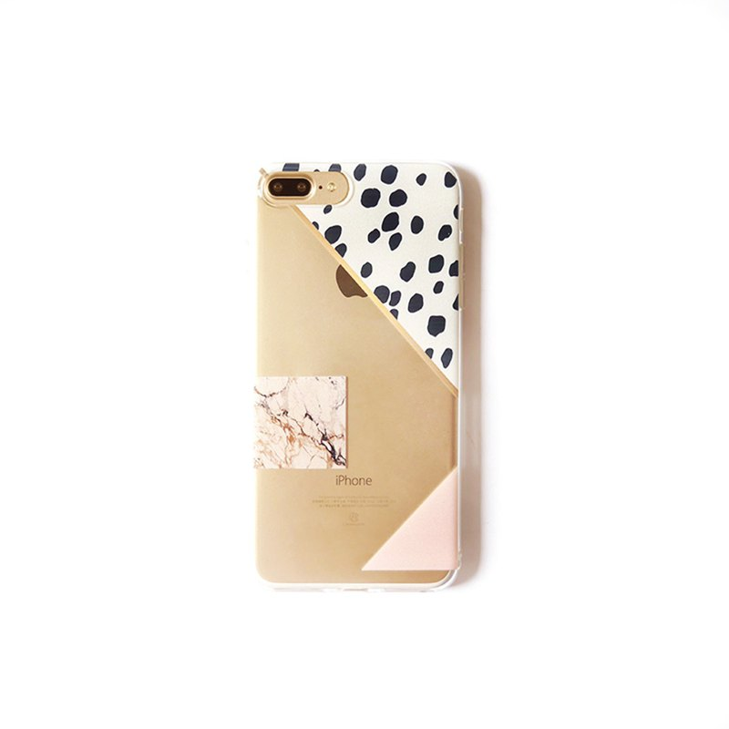 Pink phone case with zebra and rock