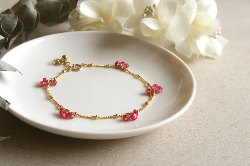 Missing season mountain cherry blossom spinel bracelet custom length natural stone recommended good gift