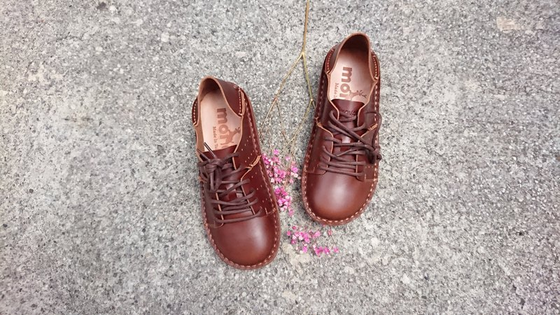 Textured lazy shoes become the official lazy waxed leather tanned leather leather after stepping shoes lovers shoes