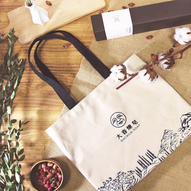 Earth spring and autumn cotton canvas bag. 100% Changhua textile cotton fabric [Dachun refining soap DACHUN]