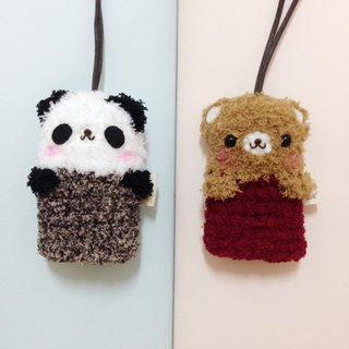 Wool knitting animal MINI key case _1 + 1 combination offer (can be used with their own animal combination)