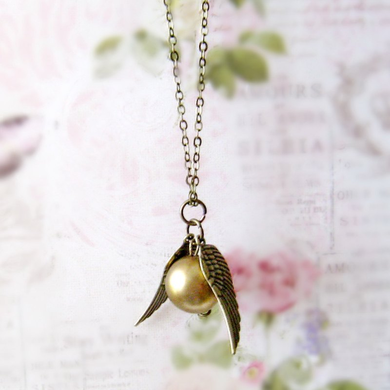 Harry Porter golden snitch necklace