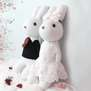 Music than the rabbit LoveRabbit-Merry Me wedding witness - New Long bride design models - handmade, marriage, marry, Valentine gift