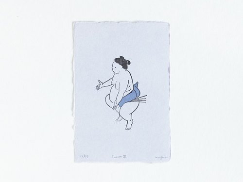 Sumo No.6 Limited Editioned Mini Letterpress Print