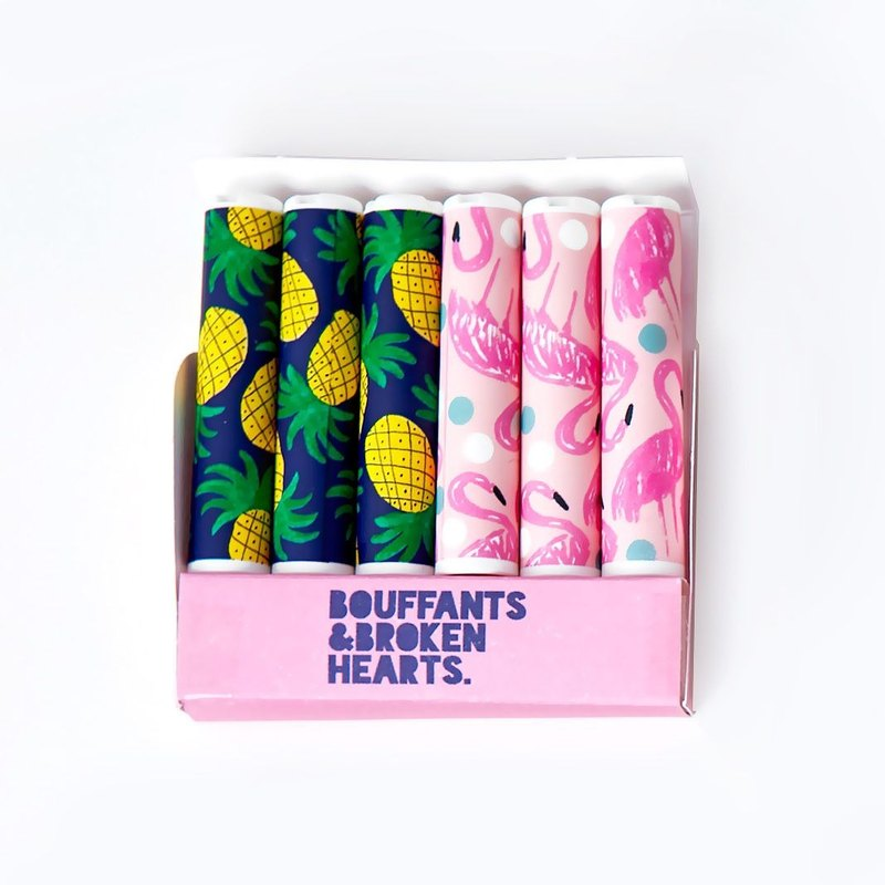BBH pencil extender cap set (6 in) - pineapple flamingo, 73D87219