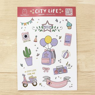 BAGCOM CITY hand-painted sticker set _200100