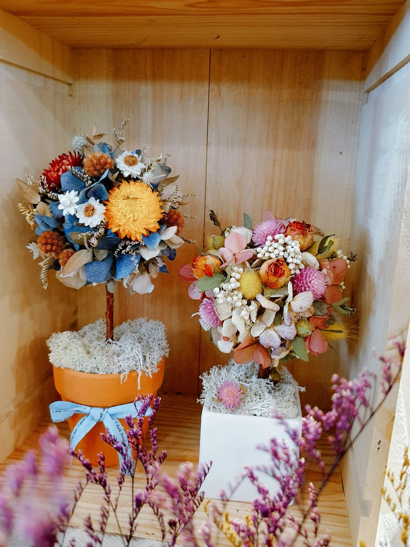 Flower ball tree flower ball potted table flower opening flower ceremony arrangement small things