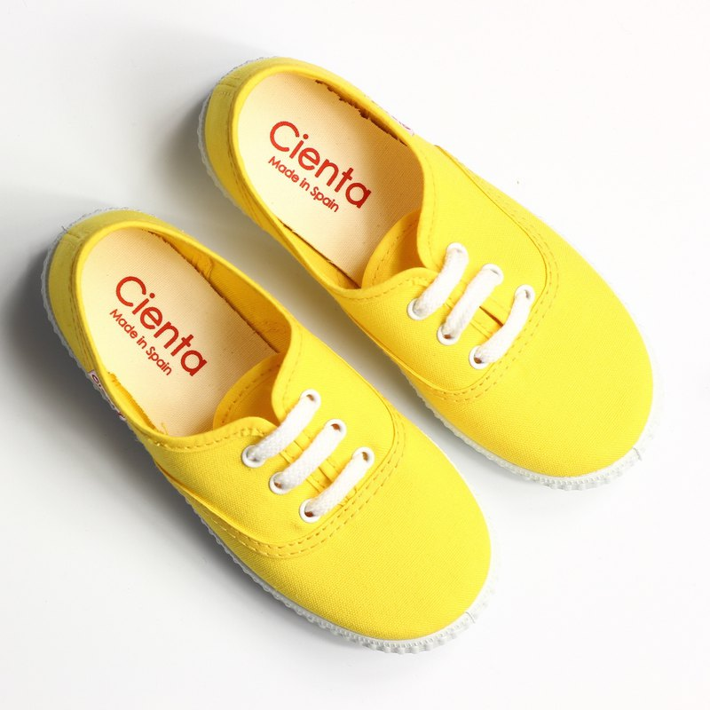 Spanish nationals canvas shoes CIENTA 52000 04 yellow children, children size