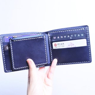 8 零 purse short clips well stitched leather material bag couples wallet Italian vegetable tanned skin 㚒