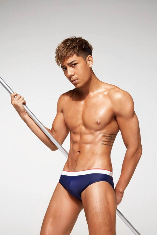 Men's swimwear / Navy Pop